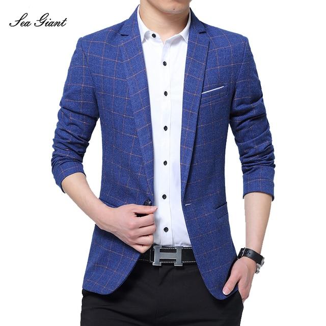 Hommes D affaires de Veste marque clothing casual manteau blazer hommes  Slim fit Veste hommes 37e5f44944c