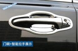 Lapetus Auto Styling ABS pokrywa klamek bocznych i miska z uchwytem pokrywa wykończenia zestaw dla Toyota Highlander 2014 2015 2016
