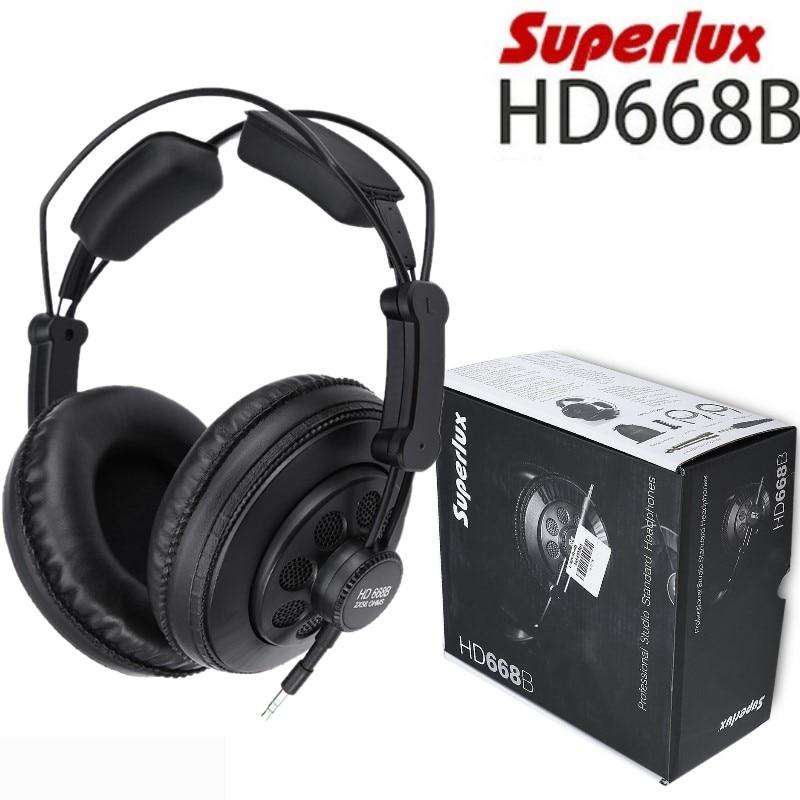 Superlux HD668B moniteur de casque dynamique Standard Semi ouvert professionnel de Studio pour enregistrer la musique basse profonde détachable-in Écouteurs et casques from Electronique    1