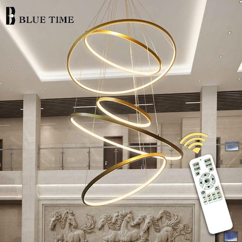 Gold & Black & White Círculo Moderno Pingente de Luz LEVOU Para Casa Sala de estar sala de Jantar Luminárias de Teto LED Luminária lâmpadas penduradas