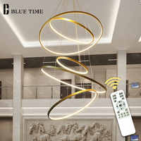 Gold&Black&White Circle Modern LED Pendant Light Home Living Room Dining room Luminaires LED Ceiling Pendant Lamp Hanging Lamps