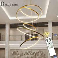 Gold & Schwarz & Weiß Kreis Moderne LED Anhänger Licht Hause Wohnzimmer esszimmer Leuchten LED Decke Anhänger Lampe hängen Lampen
