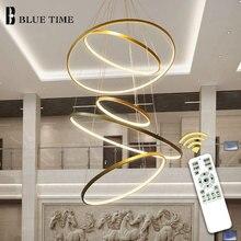 Luminária led em círculo dourado e preto e branco, luminária moderna para teto, sala de estar e sala de jantar lâmpadas de pendurar
