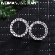 WEIMANJINGDIAN High Quality 12MM Round Circle Shape Cubic Zirconia CZ Zircon Crystal Stud