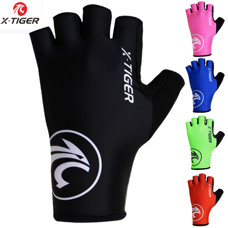 X-Tiger Breaking Wind Cycling Gloves Half Finger Anti-slip Bicycle Mittens Racing Road Bike Glove MTB Biciclet Guantes Ciclismo