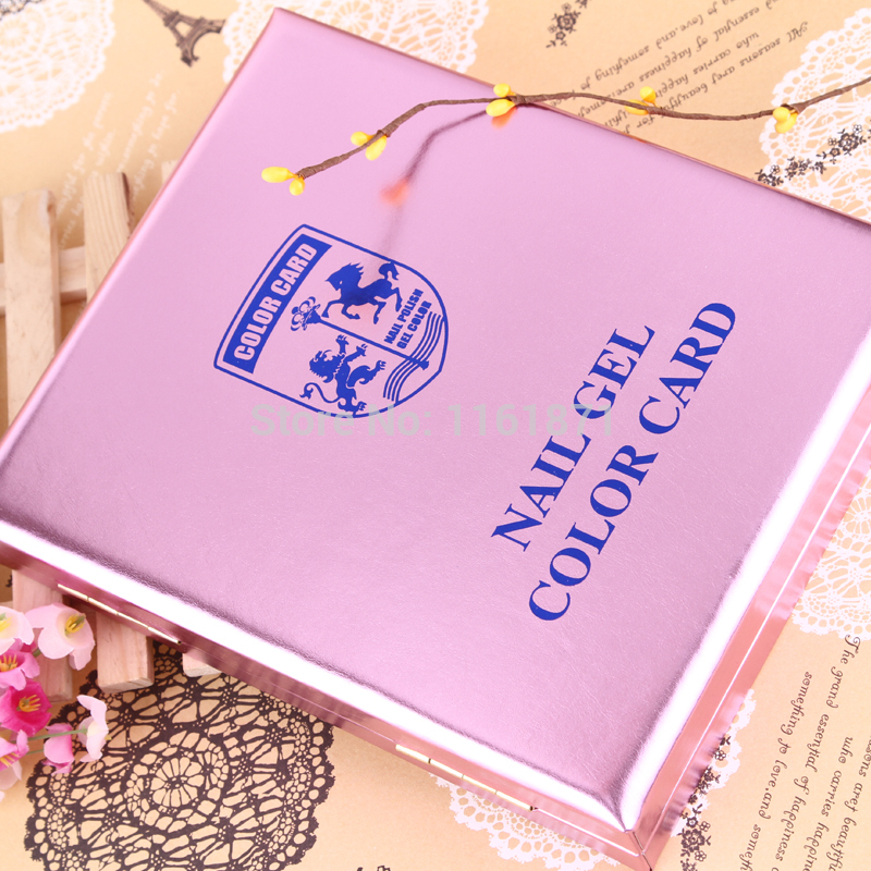 120 colors Nails Showing Shelf  PU leather Nail Gel Color Card cartridge color swatch card template card display board