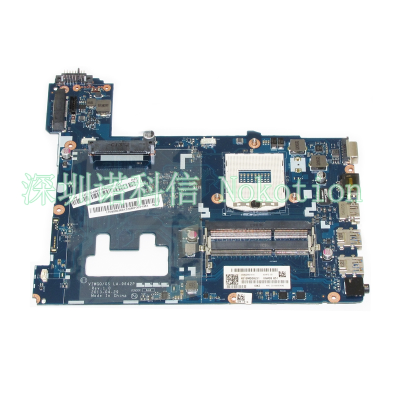 NOKOTION laptop motherboard for lenovo ideapad G510 LA-9642P 90003691 socket PGA 947 HM86 GMA HD4600 DDR3 mainboard