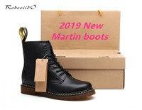 Dr. martennss/женские ботинки из натуральной кожи, Зимние ботильоны, Обувь На Шнуровке Для мужчин, высокое качество, винтажная мужская обувь