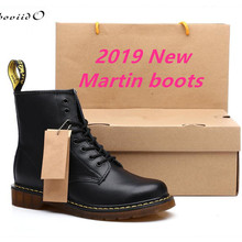 Genuine Leather Women Boots dr. martennss Winter Ankle Snow Boots Shoes Lace Up