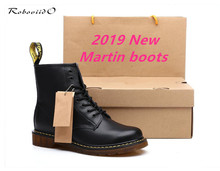 Genuine Leather Women Boots dr. martennss Winter Ankle Snow Boots Shoes Lace Up Shoes For Men High Quality Vintage Mens Shoes