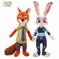 Movie Zootopia Plush Toys Rabbit Judy Hopps Nick Wilde Zootopia Cotton Stuffed Plush Doll Children Baby Kids Toys WJ347
