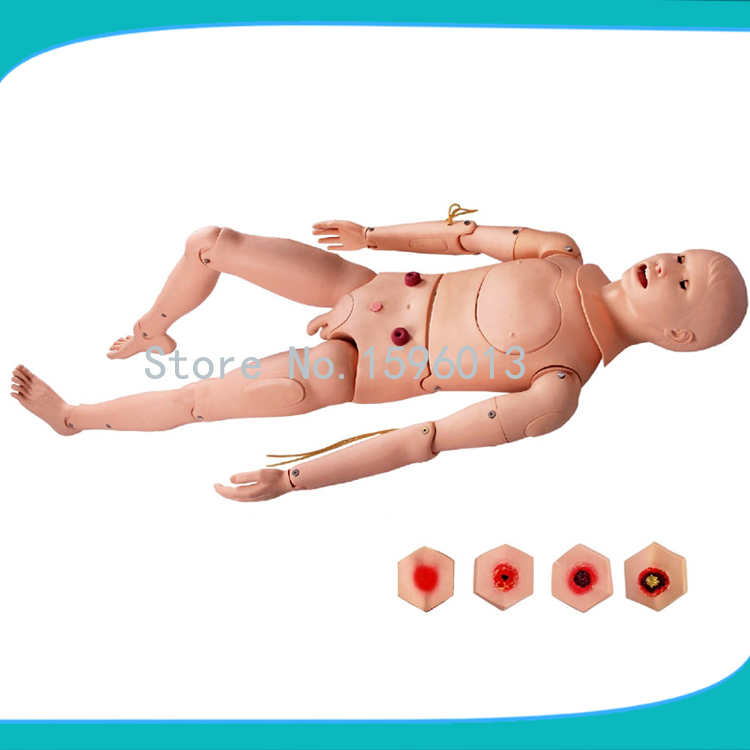 Advanced Combined Male Nursing Manikin, Flexible Nursing Mannequin bix h2400 advanced full function nursing training manikin with blood pressure measure w194