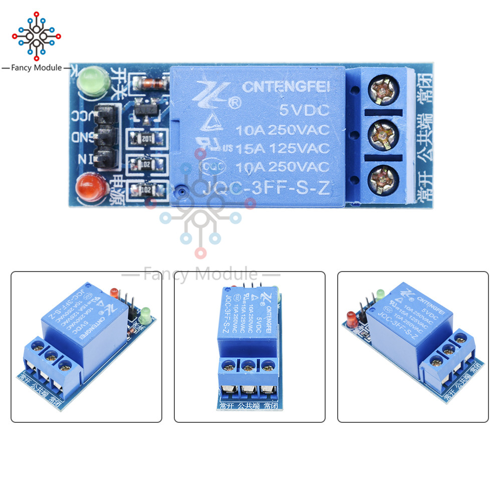цена на 5pcs/Lot 5V Low Level Trigger One 1 Channel Relay Module Interface Board Shield DC AC 220V For PIC AVR DSP ARM MCU Arduino