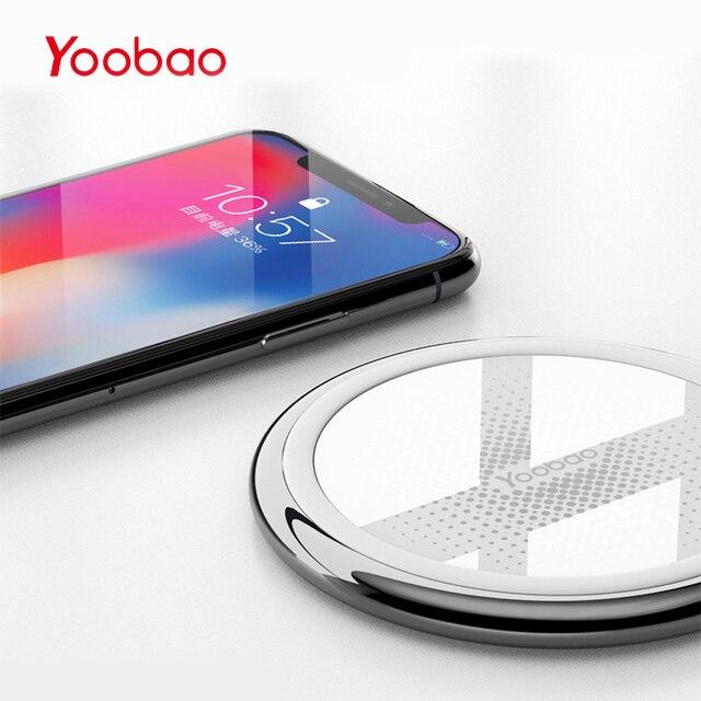 Yoobao Беспроводной Зарядное устройство для iphone 8/X быстро Беспроводной зарядки для Samsung S8/S8 +/S7 край nexus5 Lumia 820 USB Зарядное устройство pad
