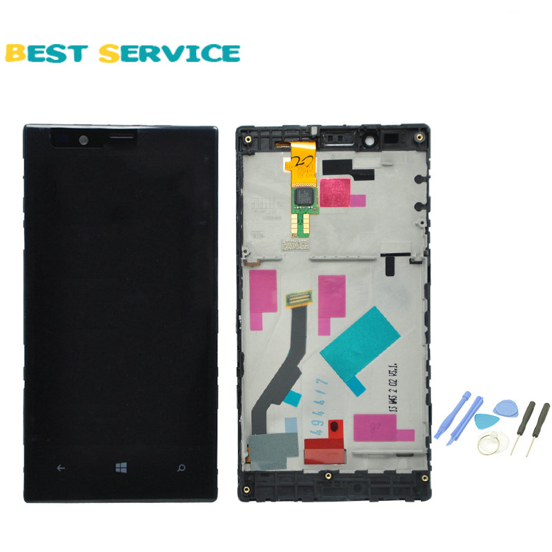 For Nokia Lumia 720 LCD Screen Display with Touch Screen Digitizer Assembly + Frame + Tools Free shipping new capacitive touch screen panel digitizer glass sensor replacement for 8 qumo vega 8009w tablet free shipping