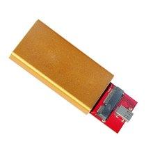 CY USB-C USB 3.1 Tipo C a 50mm da Cor do Ouro Caso Gabinete Cablecc mSATA PCI-E SSD Disco de Estado Sólido