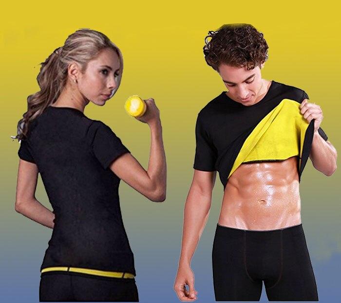 Sweat Vest thin body abdomen sweating short-sleeved yoga Slim Fat Burner