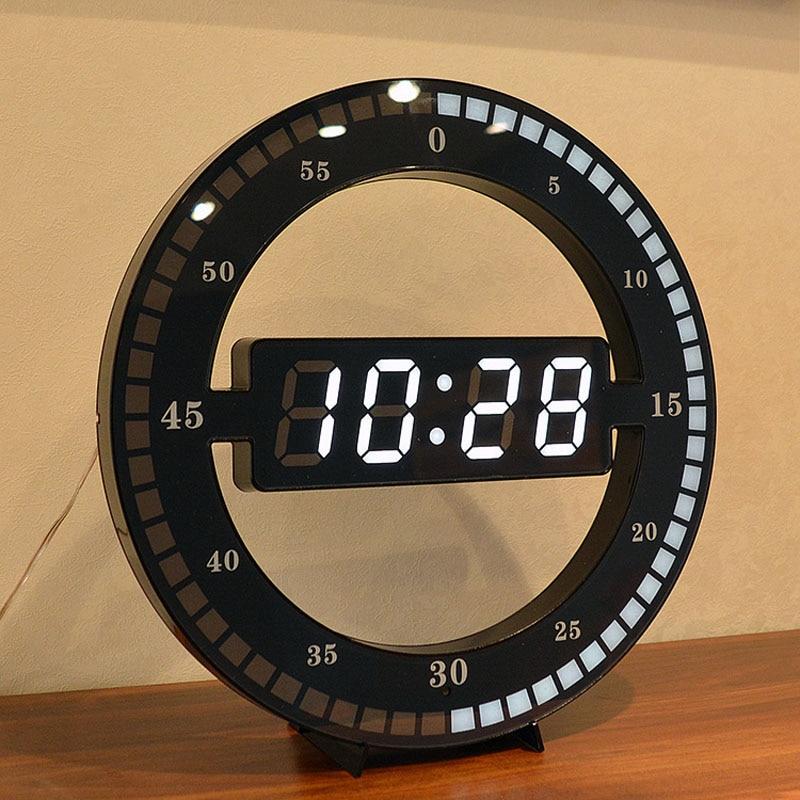 Digital Wall Clock Modern Design Automatically Adjust ...