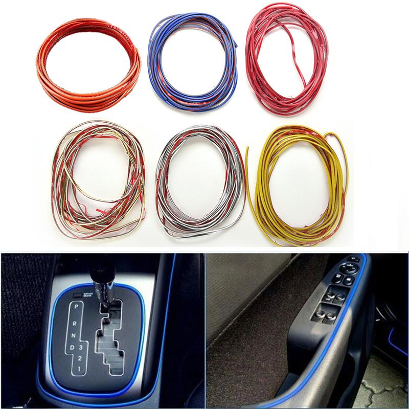 5 meter Car Styling indoor Car Interior Exterior Body Modify Decal Auto Car Sticker Stickers Decoration Thread Drop Shipping ethernet cable