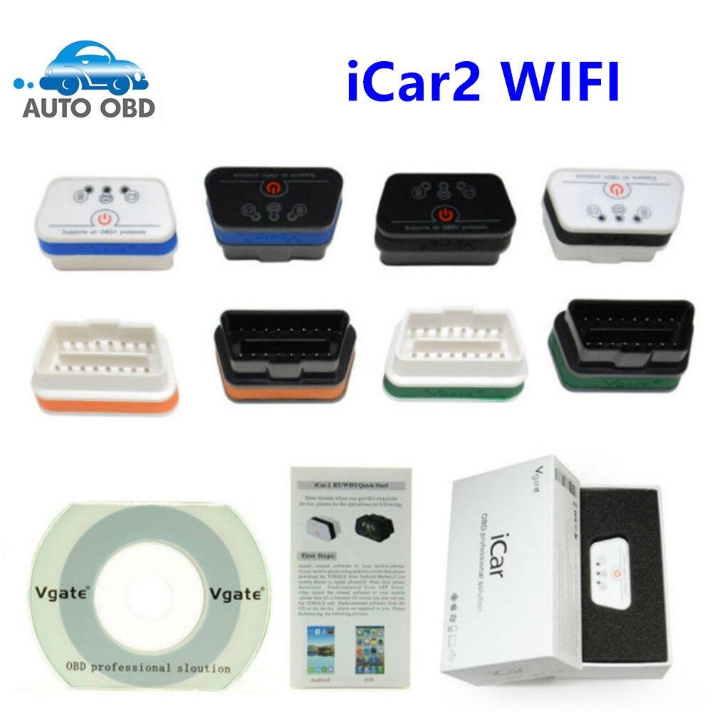 Prix pour Vgate WiFi iCar2 OBDII ELM327 100% D'origine iCar2 WiFi Vgate OBD Diagnostic Scanner Pour iOS/Android PC 2 Ans