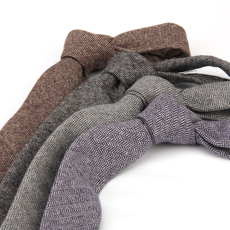 TieSet buena calidad lana cuello corbatas para hombres 6 cm flaco sólido corbatín estrecho Gravata fiesta boda negocios Oficina T-141