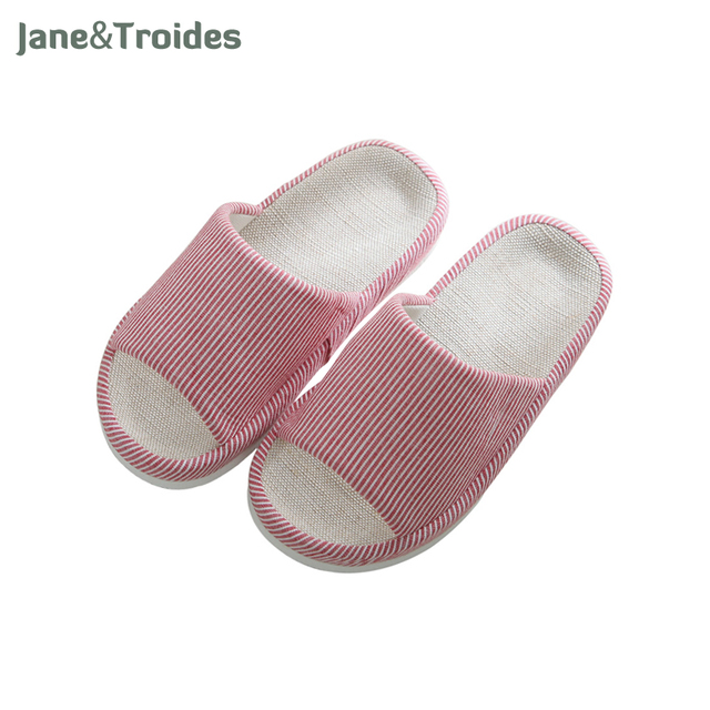 29a3025dd Home Linen Women Slippers Solid Color Anti Slip No Noise Flip Flops Massage  Casual Woman Sandals Fashion Indoor Outdoor Shoes