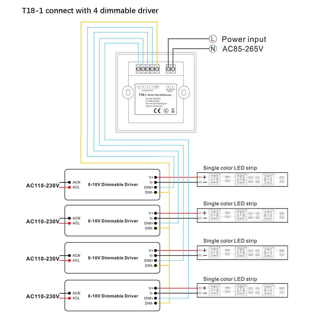 لوحة اللمس 0-10 فولت لوحة اللمس led ديمر 85-265VAC عالية الجهد التبديل الحالي جدار جبل 0-10 فولت الناتج إشارة
