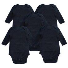 Body niemowlęce noworodki ubrania z długim rękawem czarny Unisex muzułmanin 0 24 miesięcy odzież niemowlęca