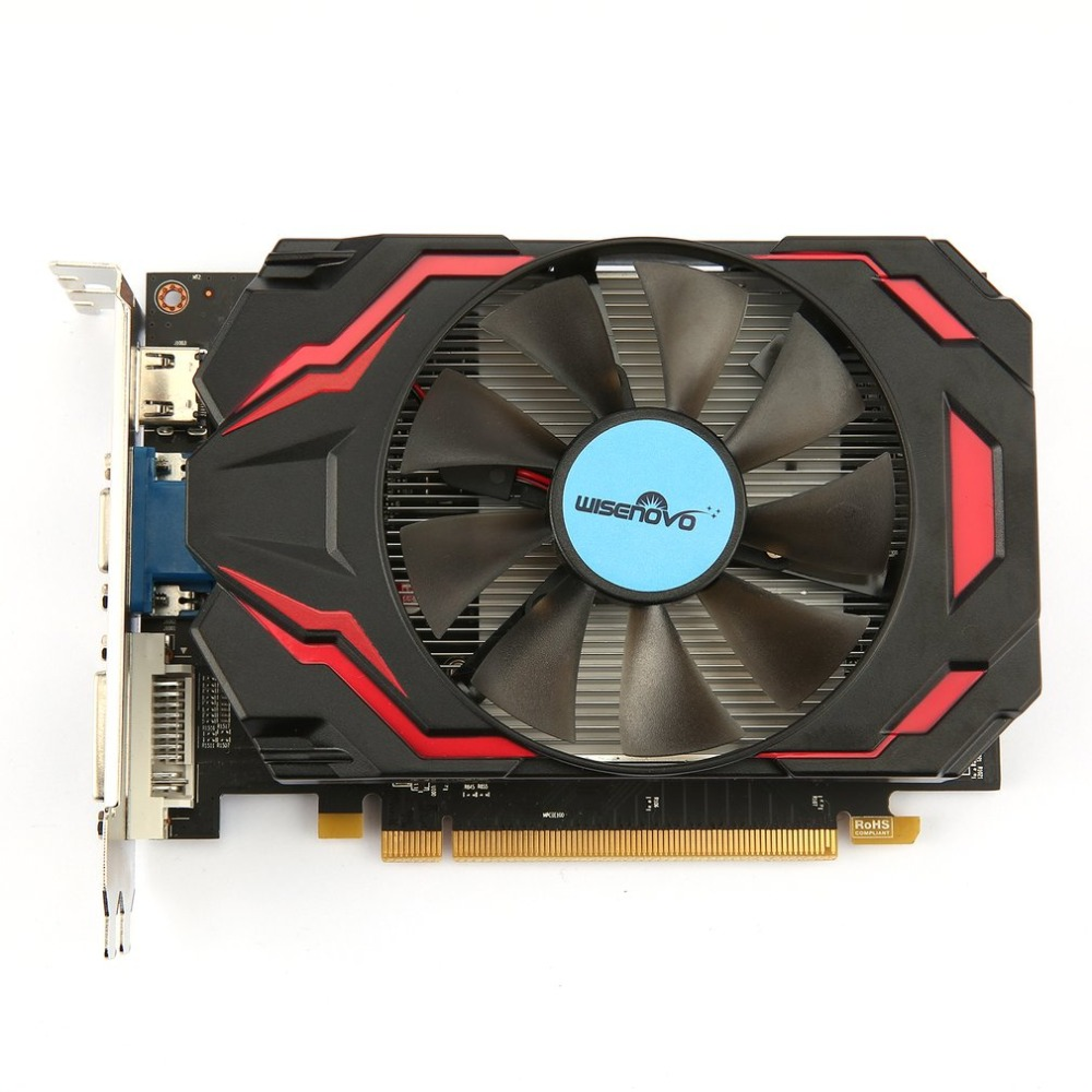 WISENOVO HD7770 4G/128bit GDDR5 Gaming Video Graphics Card One Cooling Fan Gaming Desktop Computer PC Video Graphics Cards computador cooling fan replacement for msi twin frozr ii r7770 hd 7770 n460 n560 gtx graphics video card fans pld08010s12hh