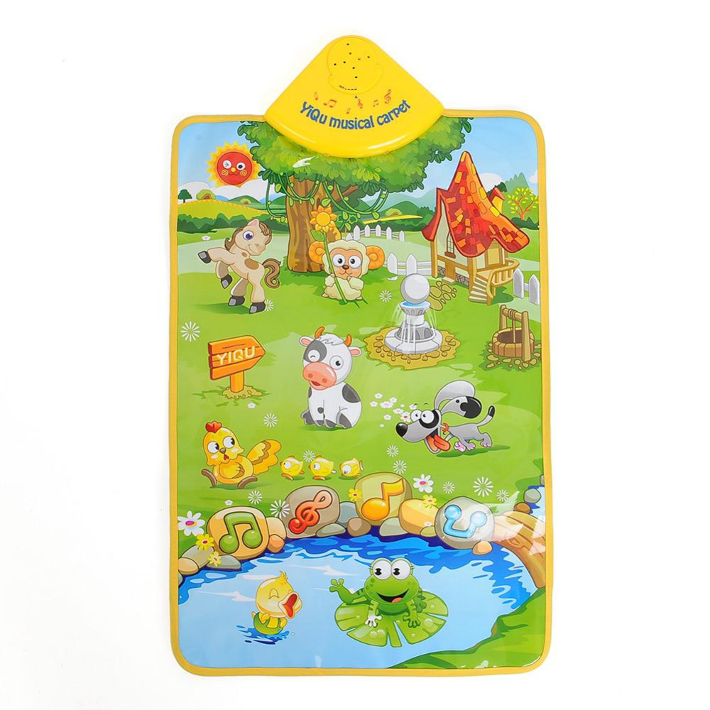 New Musical Music Sound Singing Farm Animal Farmery Child Playing Play Blanket Mat Carpet Playmat Kid Gift