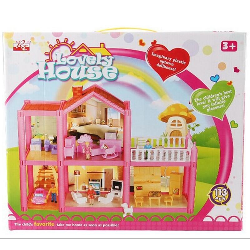 Yeni DIY Aile Bebek Evi Bebek Aksesuarları Oyuncak Ile Minyatür - Bebekler ve Aksesuarlar - Fotoğraf 6