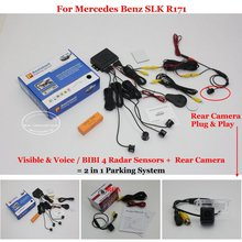 Liislee For Mercedes Benz SLK R171 – Car Parking Sensors + Rear View Back Up Camera = 2 in 1 Visual / BIBI Alarm Parking System