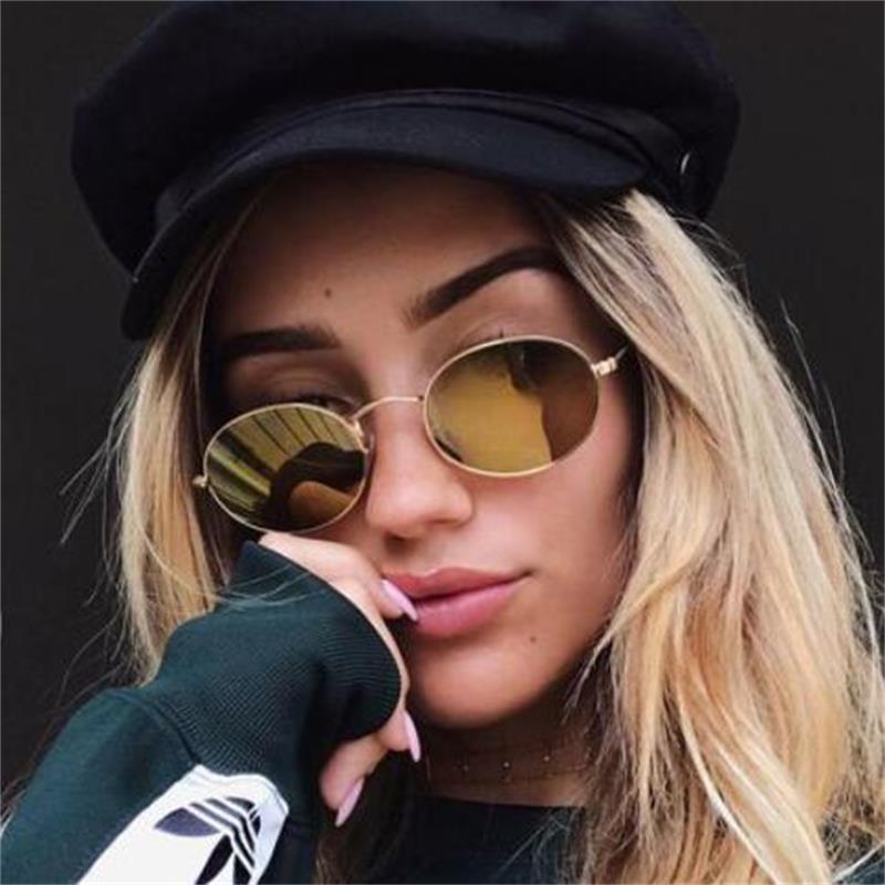 ec8d909294 90s Oval Sunglasses gold black retro pink red sun glasses women mirror luxe  80s small round sunglasses mens flat lens vintage UV