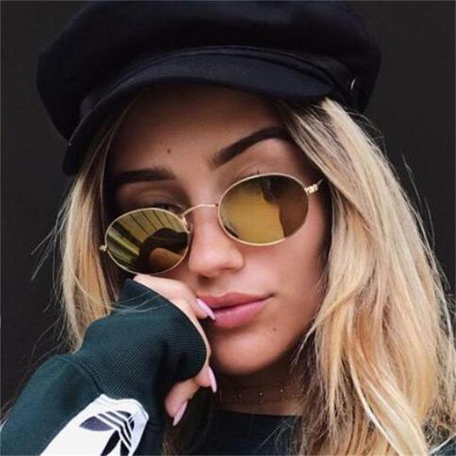 f0e03d89da7 90s Oval Sunglasses gold black retro pink red sun glasses women mirror luxe  80s small round sunglasses mens flat lens vintage UV