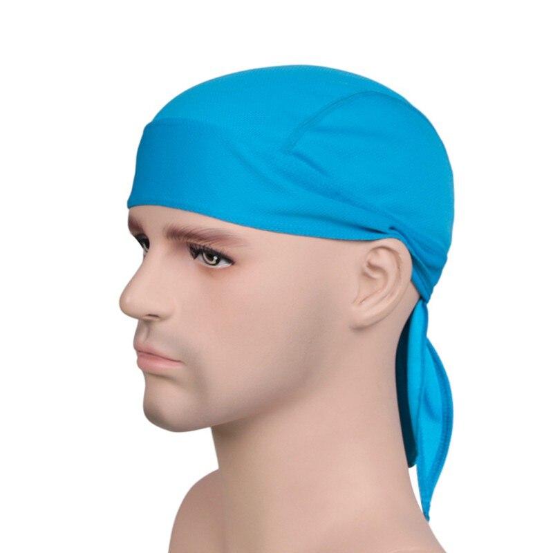 Summer Men Running Riding Pirate Hat Headbands Head Scarf Headscarf Headband Outdoor Quick Dry Solid Cycling Cap