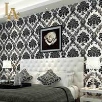 European Luxury Damascus 3D Stereoscopic High Foam Embossed Non Woven Wallpaper Wallpaper Living Room Bedroom Home