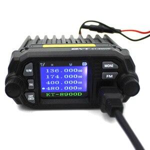 Image 3 - QYT KT 8900D VHF UHF راديو المحمول 2 طريقة راديو رباعية عرض ثنائي النطاق راديو سيارة صغيرة 25 واط اسلكية تخاطب KT8900D
