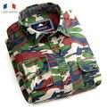 Langmeng cotton Man Casual Camouflage shirt Men Army casual Shirt Military Camo Camp Mens outwear Shirts Fashion 2016 Meisai
