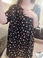 Европейский и Американский СТИЛЬ звезды печати свободные короткими рукавами Футболки для беременных с коротким рукавом звезды печатных шифон рубашки блузка