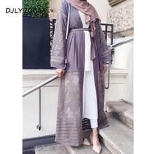 2019 Women Pakistan Clothing Qatar Uae Muslim Kimono Front Open Abaya Sexy Arab Turkey Clothes Islamic Cardigans