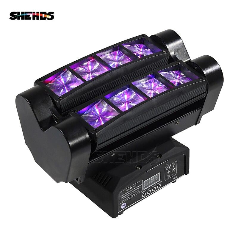 Mini LED Faisceau Araignée 8x10 w RGBW Tête Mobile Éclairage de Bonne Qualité Pour la Partie De Mariage Bar Stage Lumières dj Disco Araignée