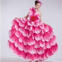 Фламенко платье для танцев испанский танец костюм лепесток испанского фламенко, хорового пения или платье с головным убором в виде цветка 540 360 дропшиппинг