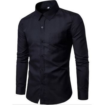2018 Men Fashion Casual Long Sleeved Printed shirt Slim Fit Male Social Business Dress Shirt Brand Men Clothing G005 1