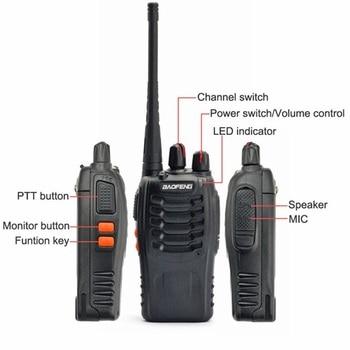 2 PCS 4 PCS Baofeng BF-888S Walkie Talkie Handheld Pofung 888s UHF 5W 400-470MHz 16CH Two Way Portable Scan Monitor Ham CB Radio 1