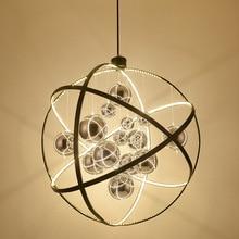 Nordic living room pendant lights Modern round LED lamps fashion fixtures bedroom hanging lighting