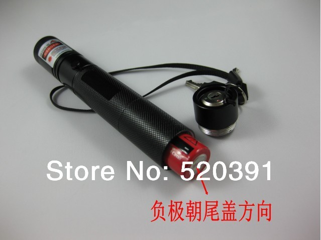 Wholesale - Free Shipping Red Laser Pointer 1000MW/1w 650nm adjustable star burn black match /pop balloon+charger+gift box