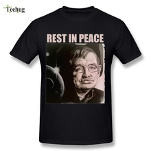 2018 Stephen Hawking Rest in Peace RIP T Shirt Retro Style Mans O-neck Design Streetwear T-Shirt