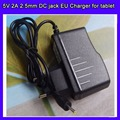 10pcs/lot Universal 2.5mm Europe EU Plug Power Adapter AC Charger 5V 2A for Tablet PC ePad