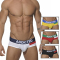 New Sexy Addicted Men Underwear Brand Addict Cotton Men's Boxers Shorts Fashion Ropa Interior Hombre Calzoncillos Marcas