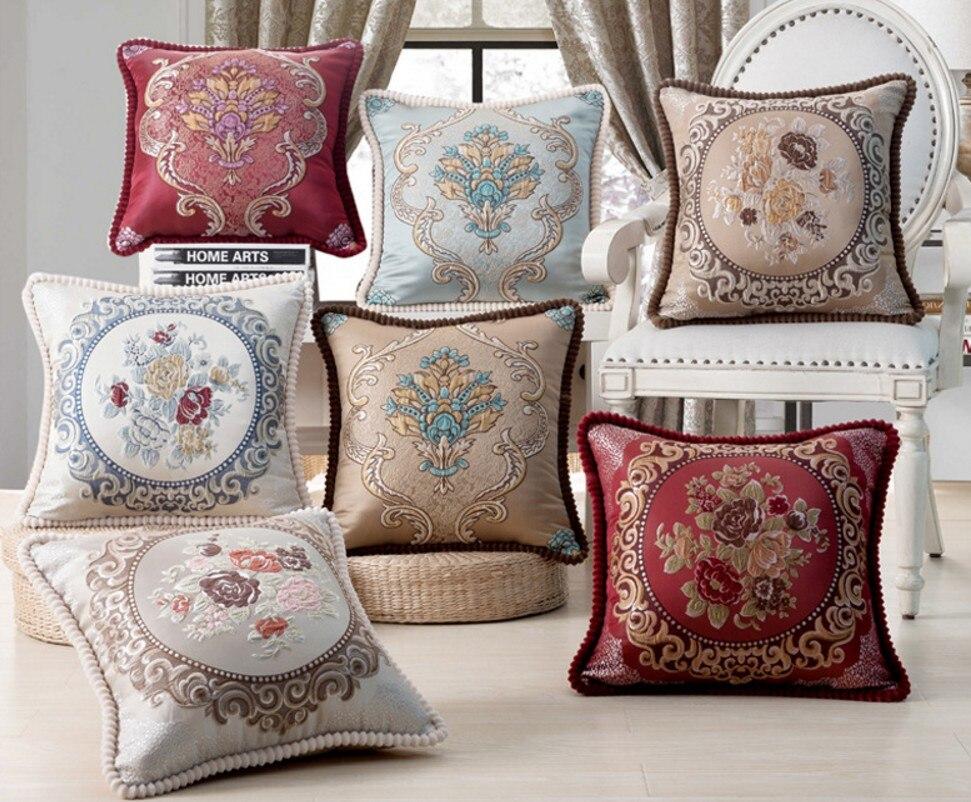 European Luxury Flower Bed Decorative Throw Pillow Cushion